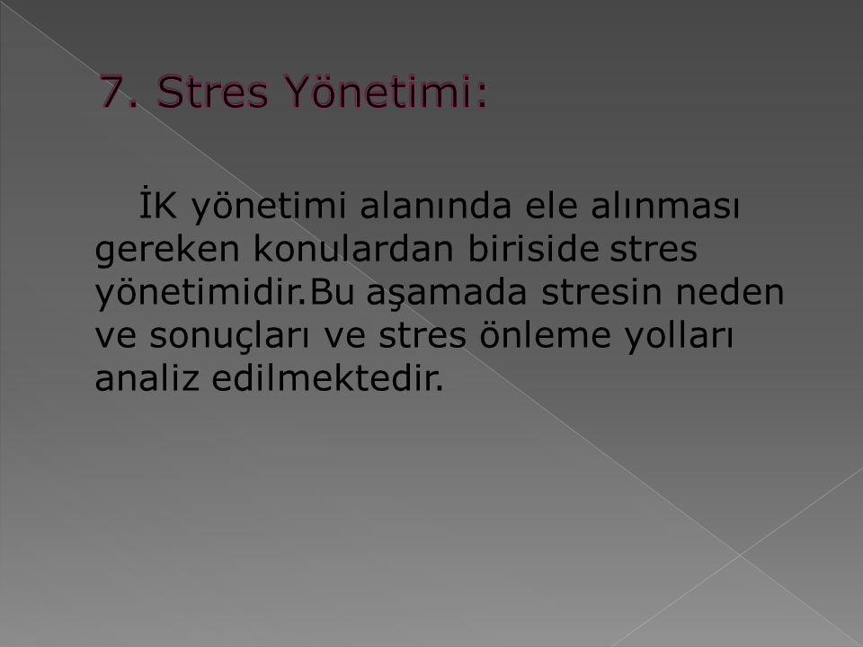 7. Stres Yönetimi:
