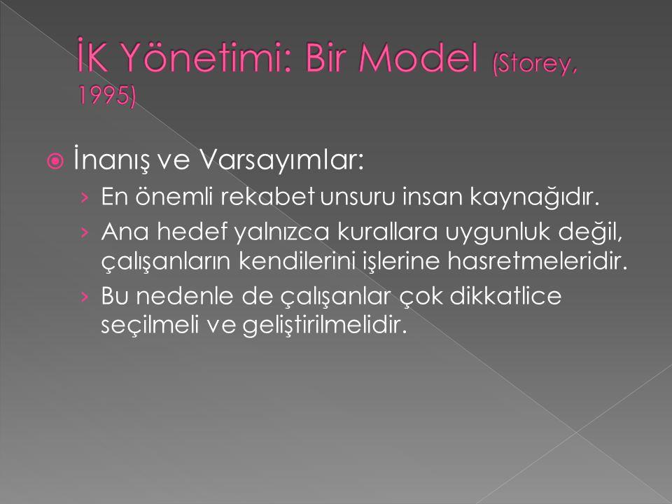 İK Yönetimi: Bir Model (Storey, 1995)