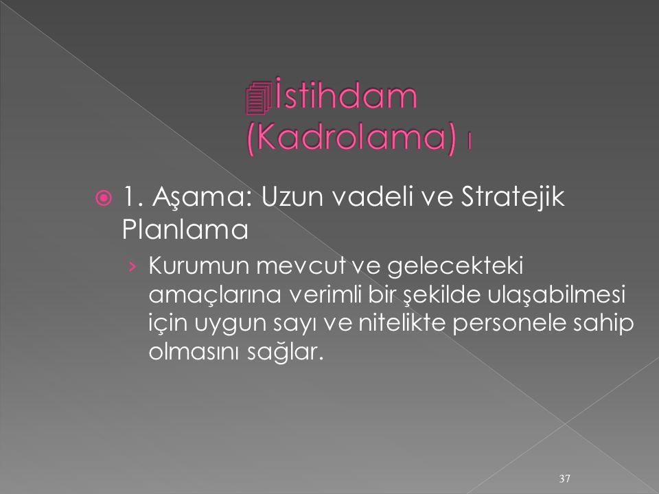 İstihdam (Kadrolama) I