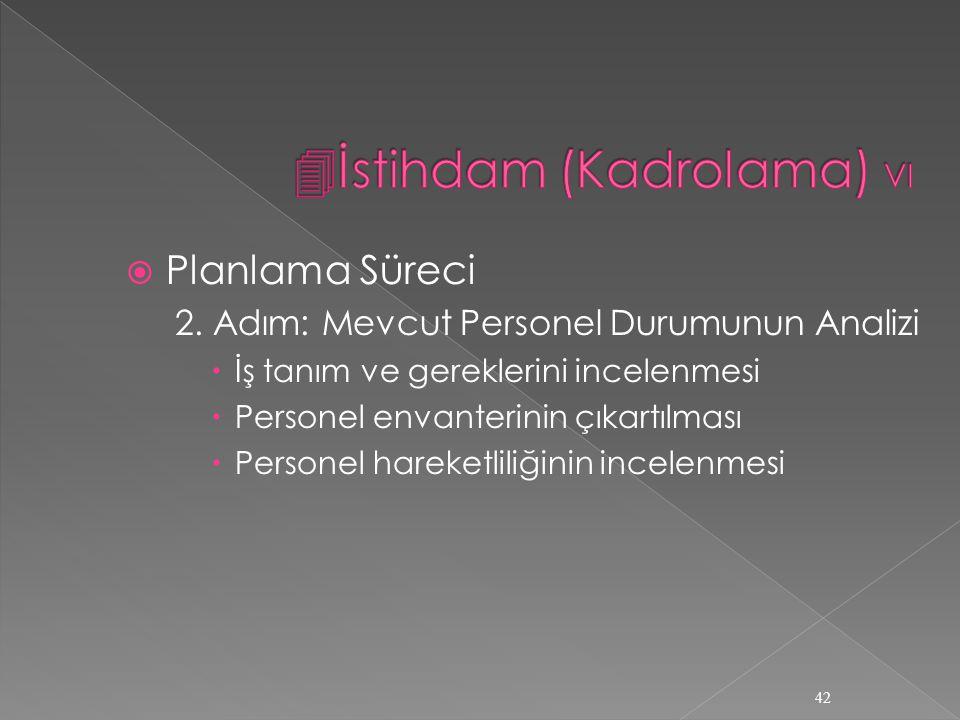 İstihdam (Kadrolama) VI