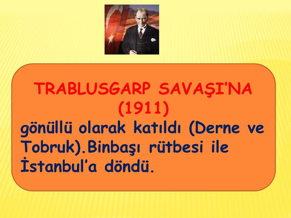 TRABLUSGARP SAVAŞI'NA (1911)