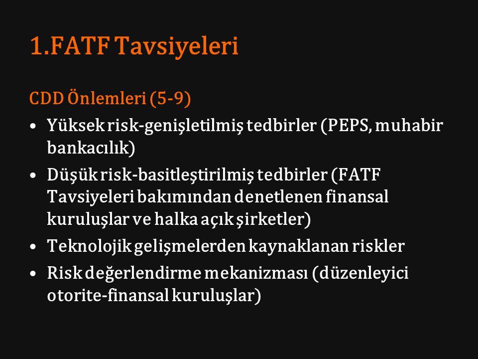 1.FATF Tavsiyeleri CDD Önlemleri (5-9)