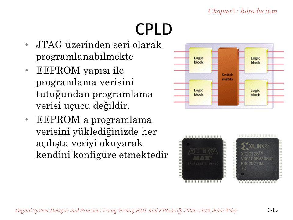 CPLD JTAG üzerinden seri olarak programlanabilmekte