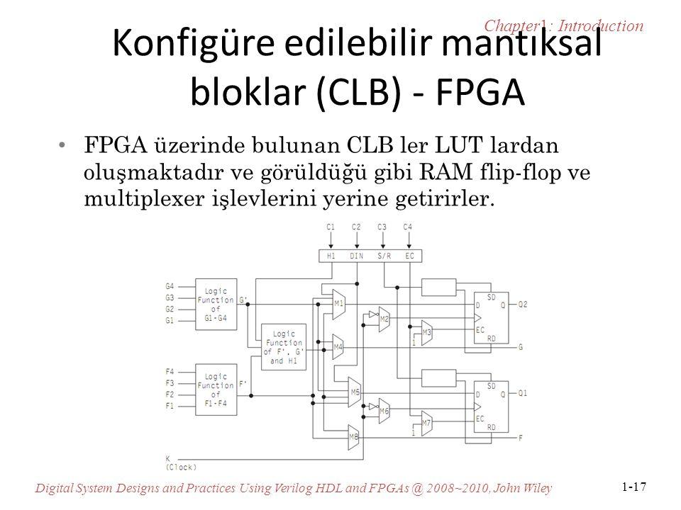 Konfigüre edilebilir mantıksal bloklar (CLB) - FPGA