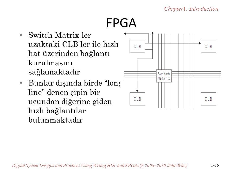 FPGA Switch Matrix ler uzaktaki CLB ler ile hızlı hat üzerinden bağlantı kurulmasını sağlamaktadır.