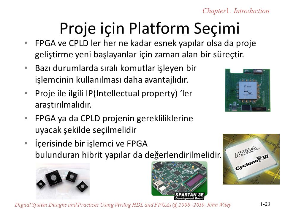 Proje için Platform Seçimi