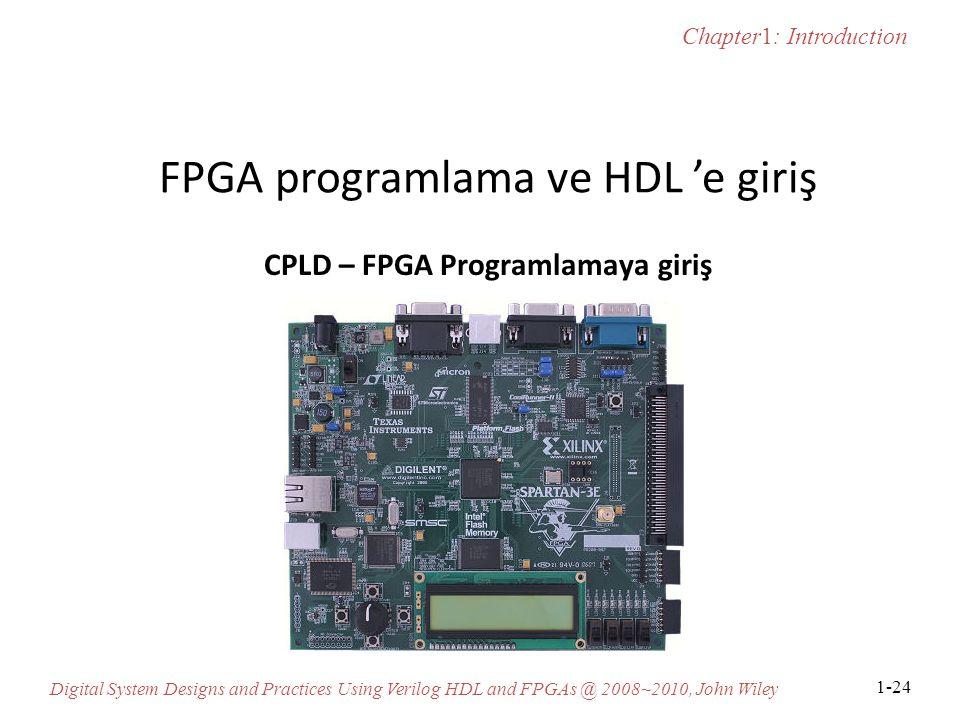 FPGA programlama ve HDL 'e giriş