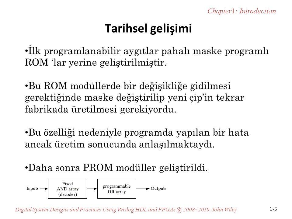 Tarihsel gelişimi İlk programlanabilir aygıtlar pahalı maske programlı ROM 'lar yerine geliştirilmiştir.
