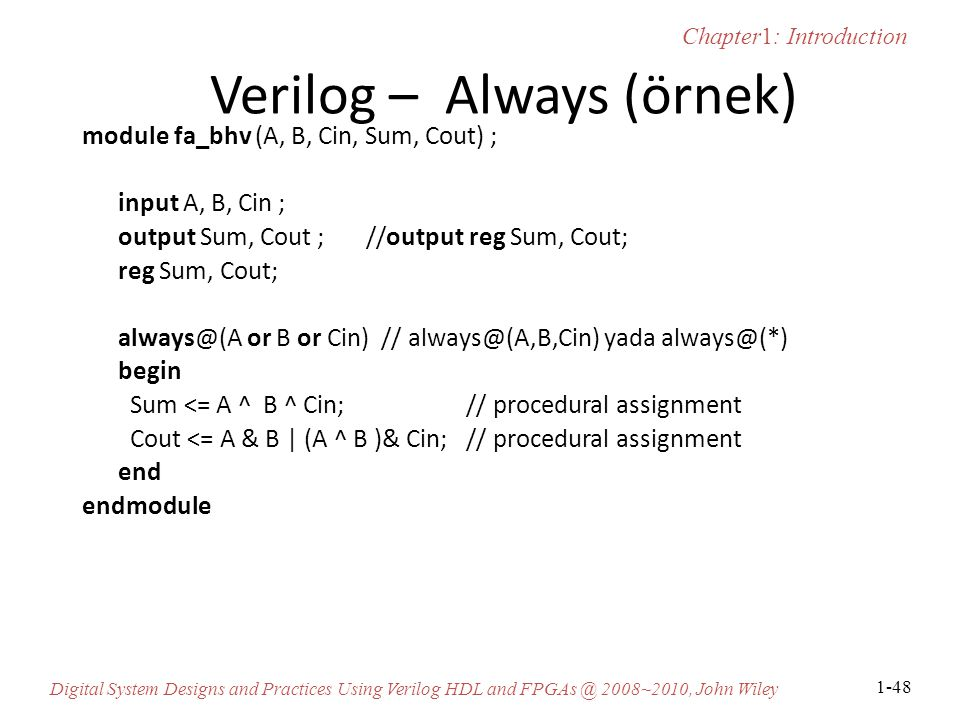 Verilog – Always (örnek)