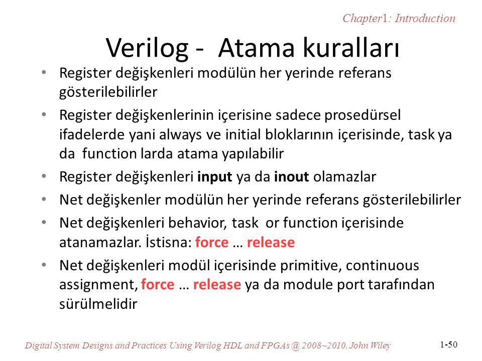 Verilog - Atama kuralları