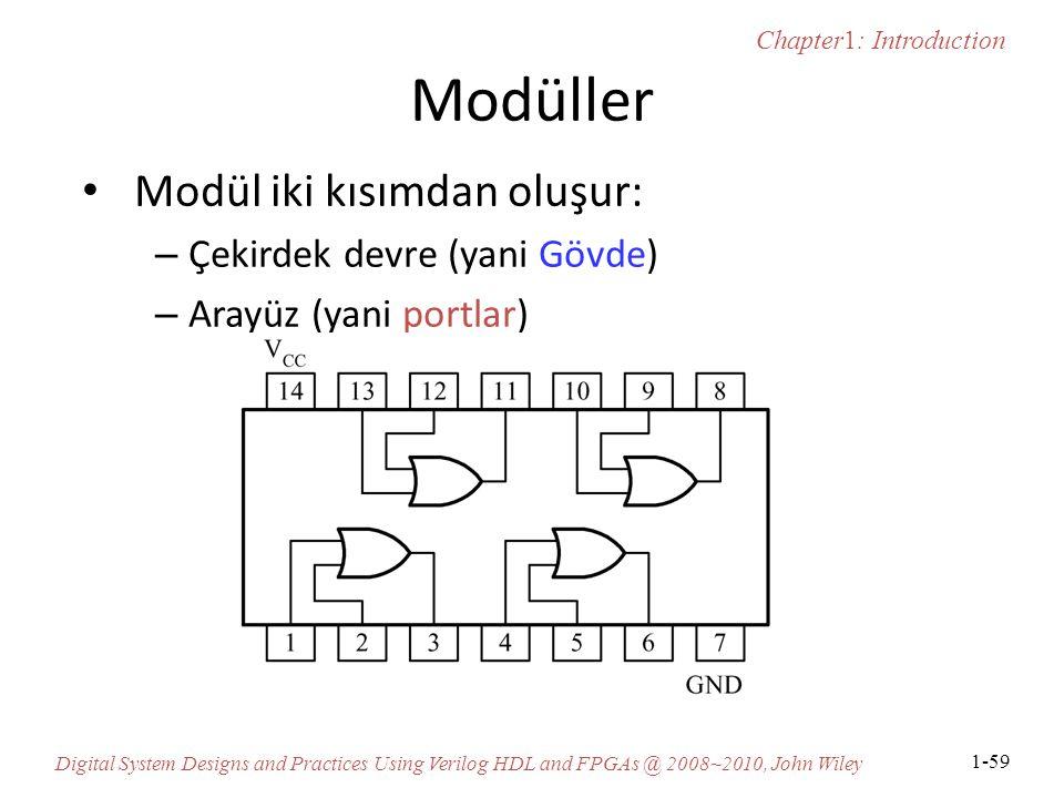 Modüller Modül iki kısımdan oluşur: Çekirdek devre (yani Gövde)