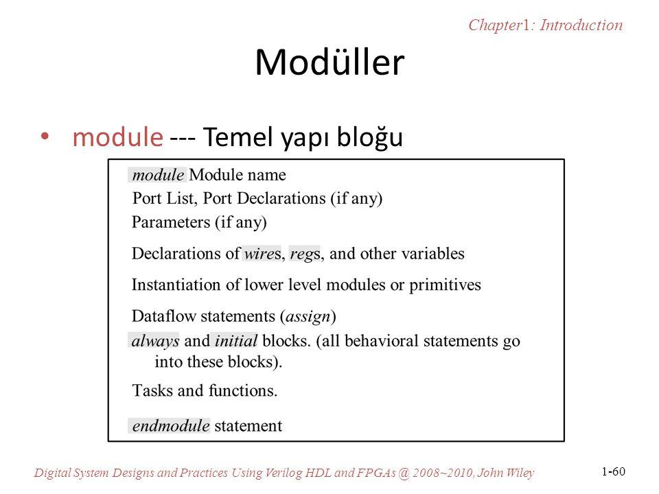 Modüller module --- Temel yapı bloğu