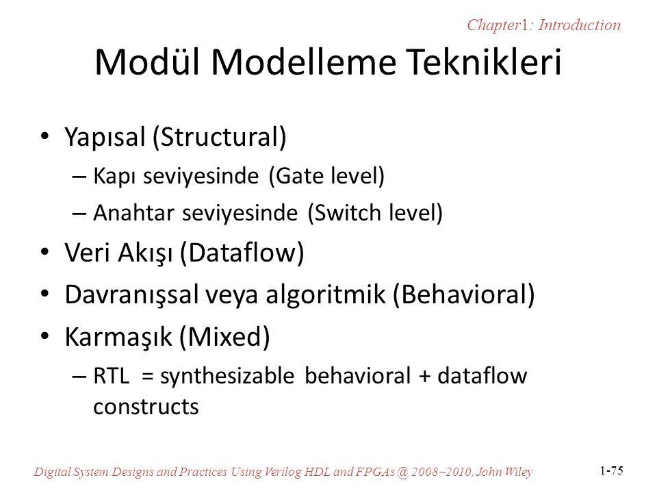 Modül Modelleme Teknikleri