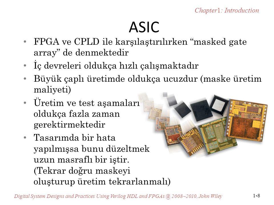 ASIC FPGA ve CPLD ile karşılaştırılırken masked gate array de denmektedir. İç devreleri oldukça hızlı çalışmaktadır.