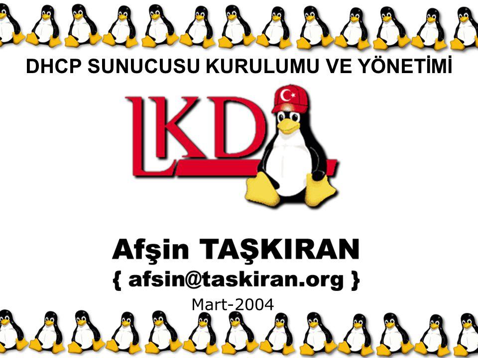 DHCP SUNUCUSU KURULUMU VE YÖNETİMİ