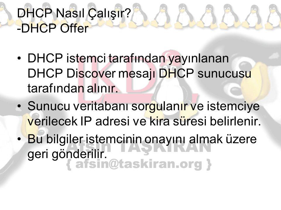 DHCP Nasıl Çalışır -DHCP Offer