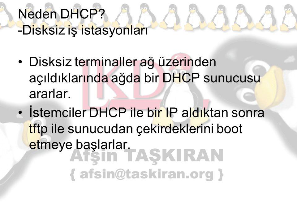 Neden DHCP -Disksiz iş istasyonları