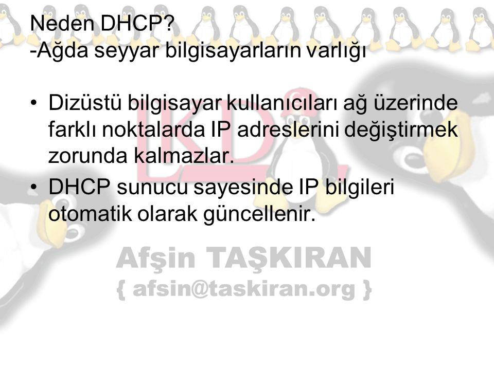 Neden DHCP -Ağda seyyar bilgisayarların varlığı