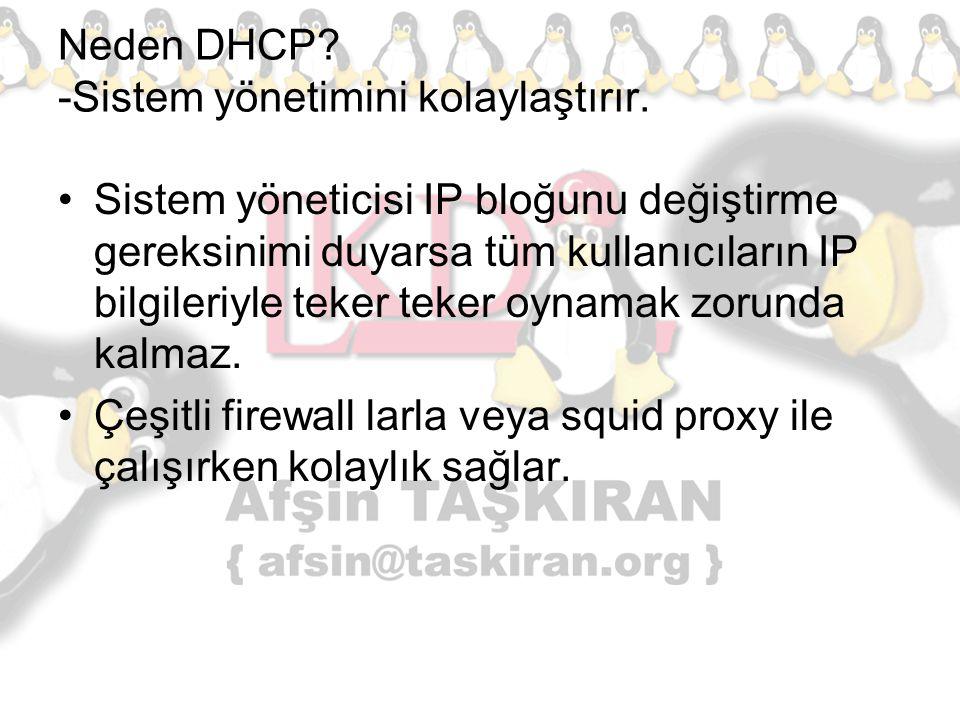 Neden DHCP -Sistem yönetimini kolaylaştırır.