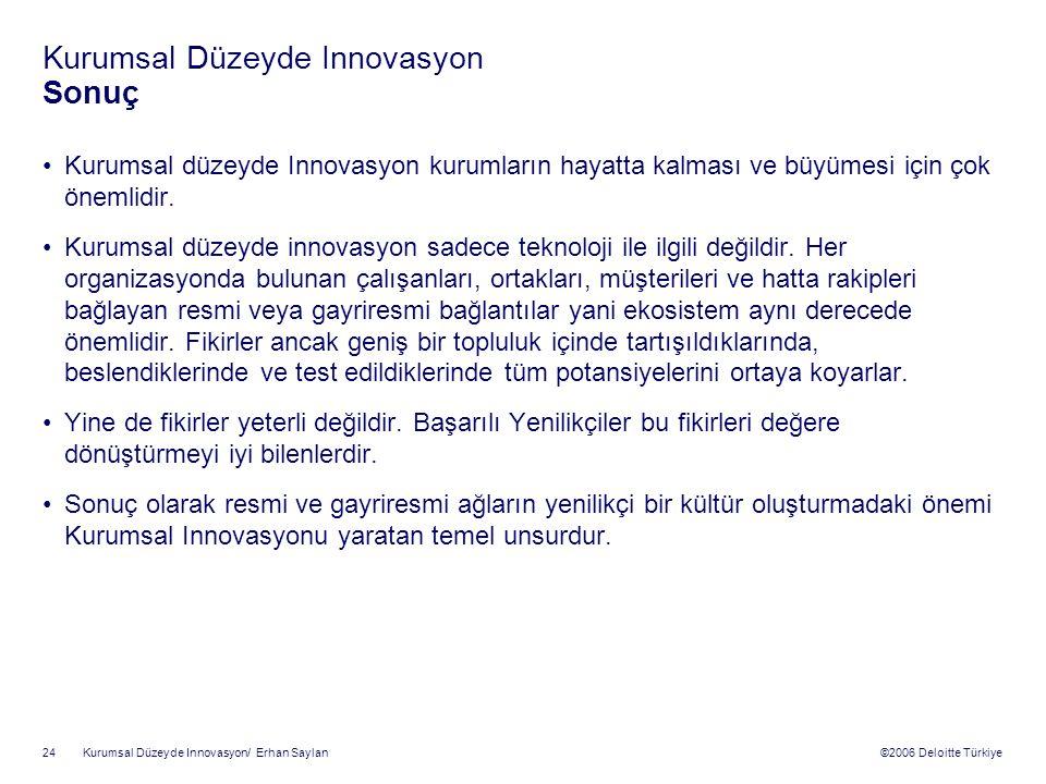 Kurumsal Düzeyde Innovasyon Sonuç