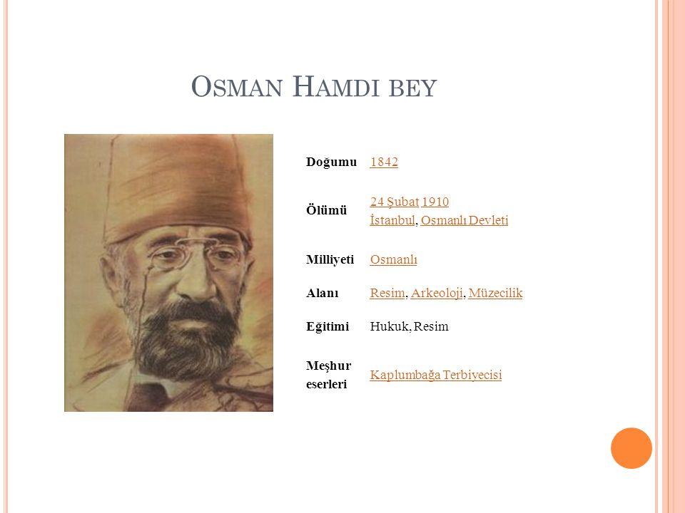 Osman Hamdi bey Doğumu 1842 Ölümü