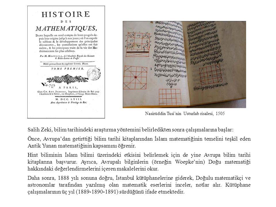 Nasirüddin Tusi'nin Usturlab risalesi, 1505