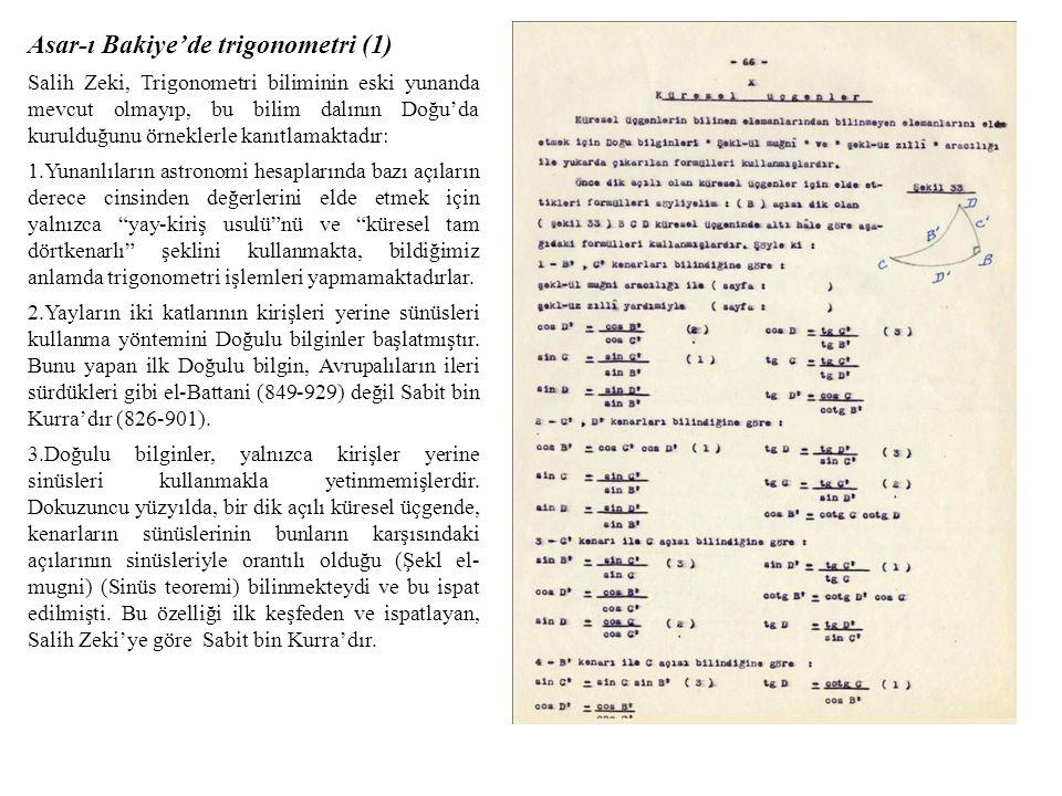 Asar-ı Bakiye'de trigonometri (1)