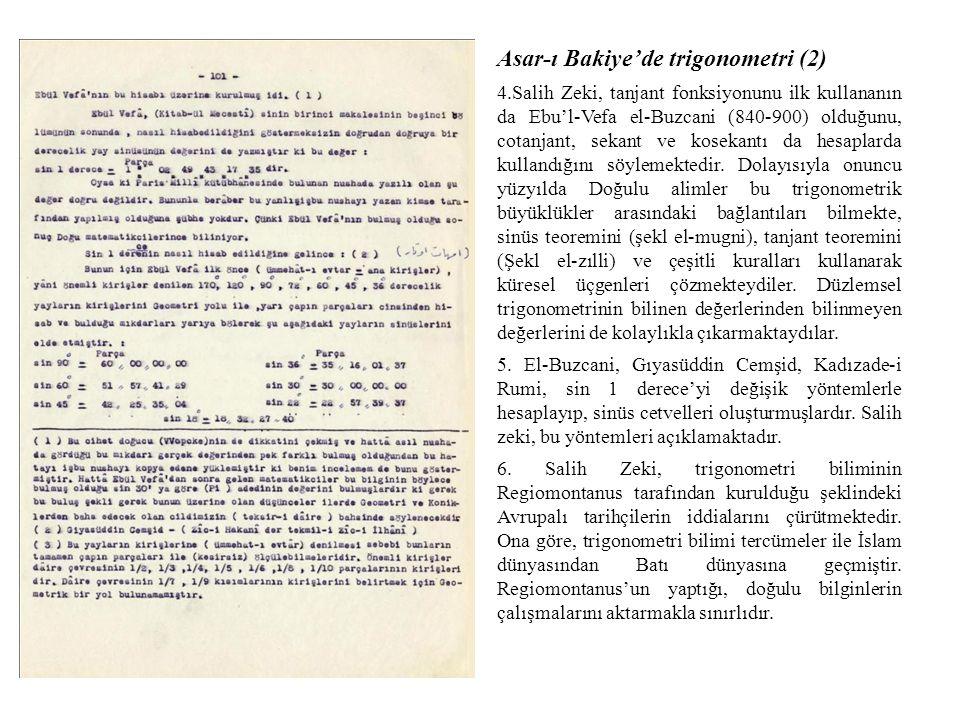Asar-ı Bakiye'de trigonometri (2)