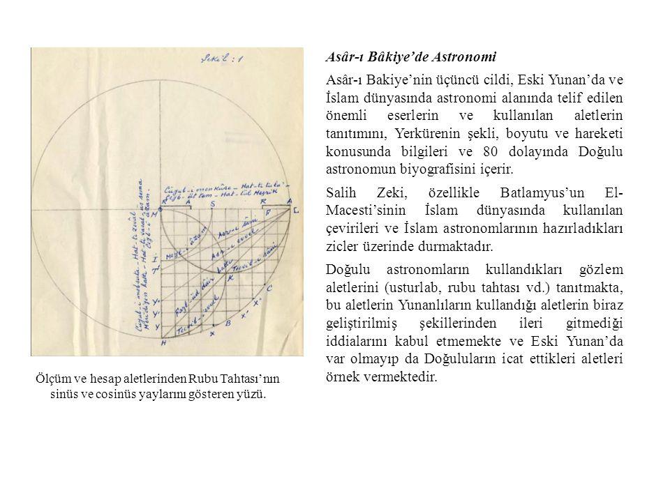 Asâr-ı Bâkiye'de Astronomi