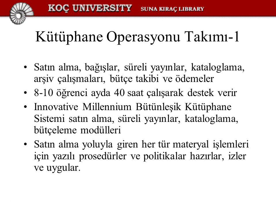 Kütüphane Operasyonu Takımı-1