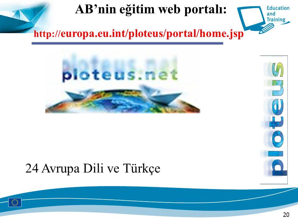 AB'nin eğitim web portalı: