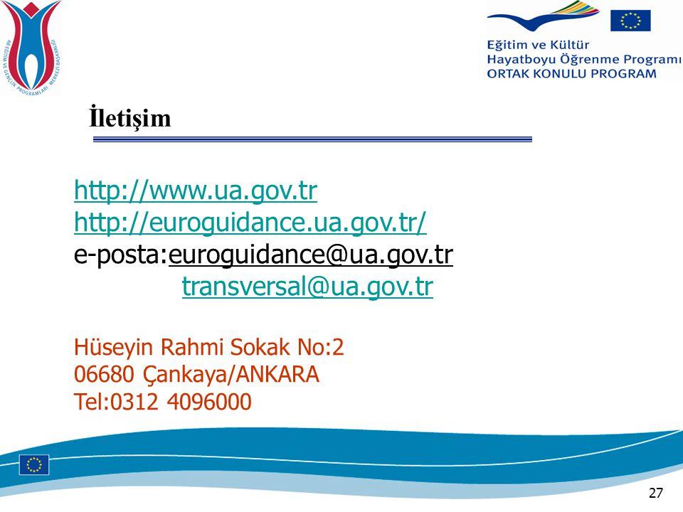 İletişim http://www.ua.gov.tr http://euroguidance.ua.gov.tr/