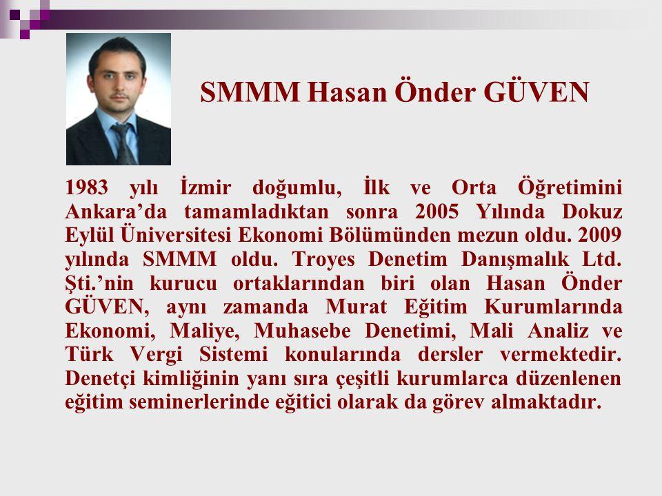 SMMM Hasan Önder GÜVEN