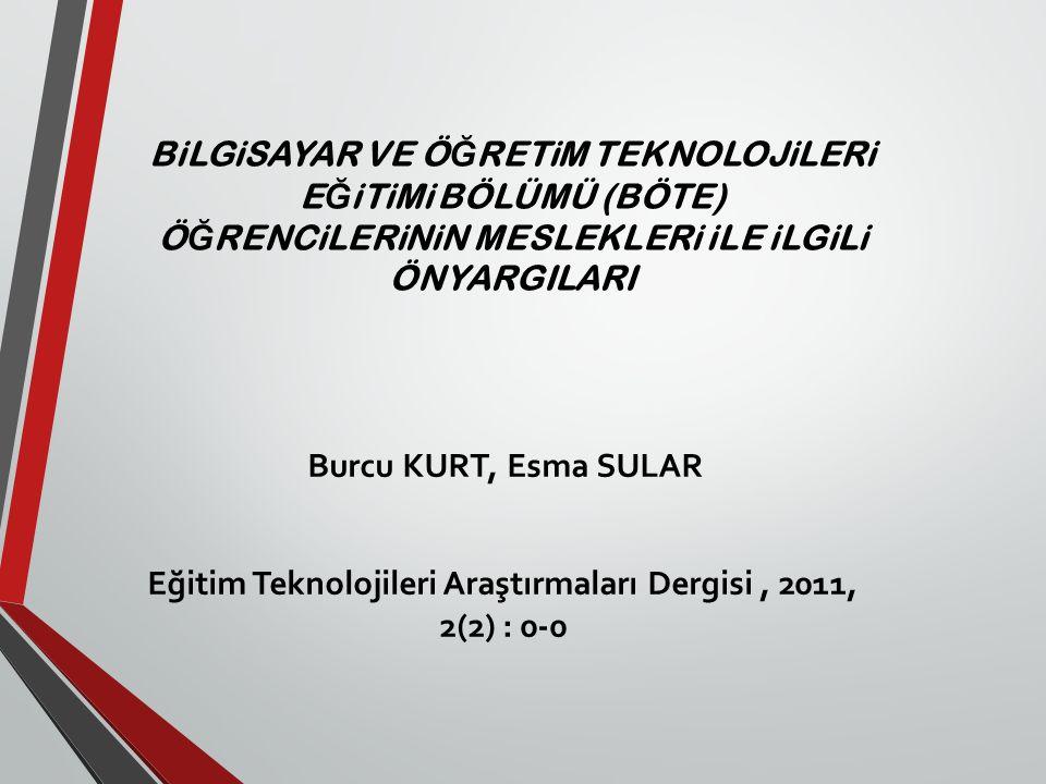 Eğitim Teknolojileri Araştırmaları Dergisi , 2011, 2(2) : 0-0