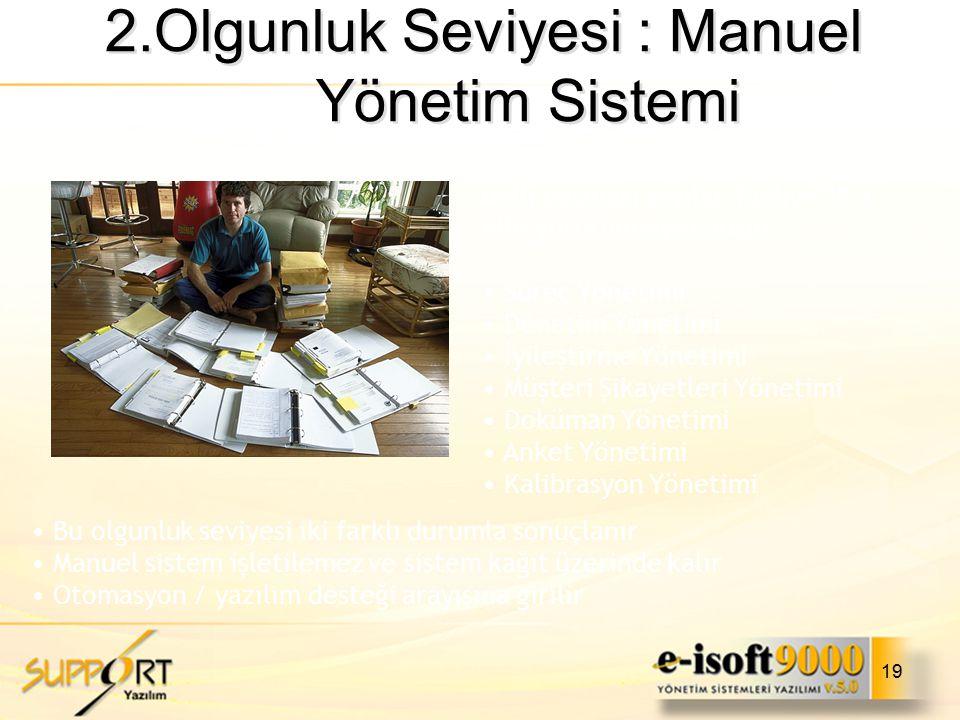 2.Olgunluk Seviyesi : Manuel Yönetim Sistemi