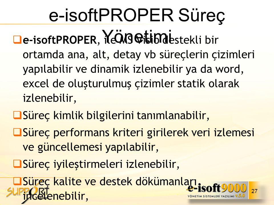 e-isoftPROPER Süreç Yönetimi
