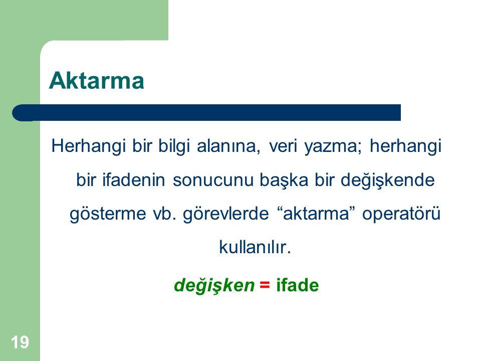 Aktarma