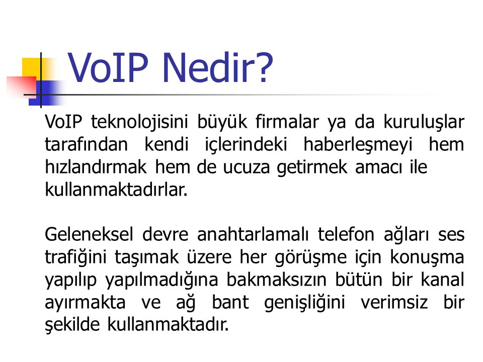 VoIP Nedir