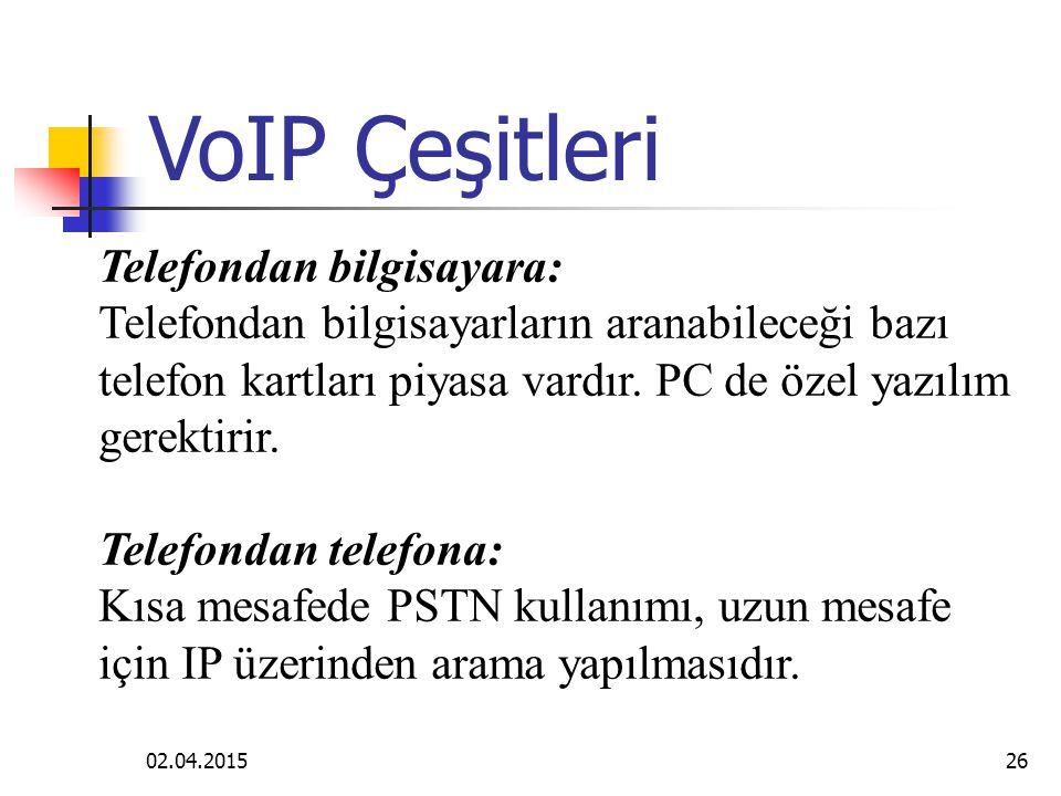 VoIP Çeşitleri Telefondan bilgisayara: