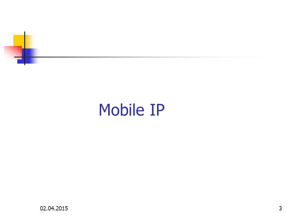 Mobile IP 09.04.2017