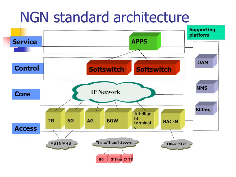 NGN standard architecture