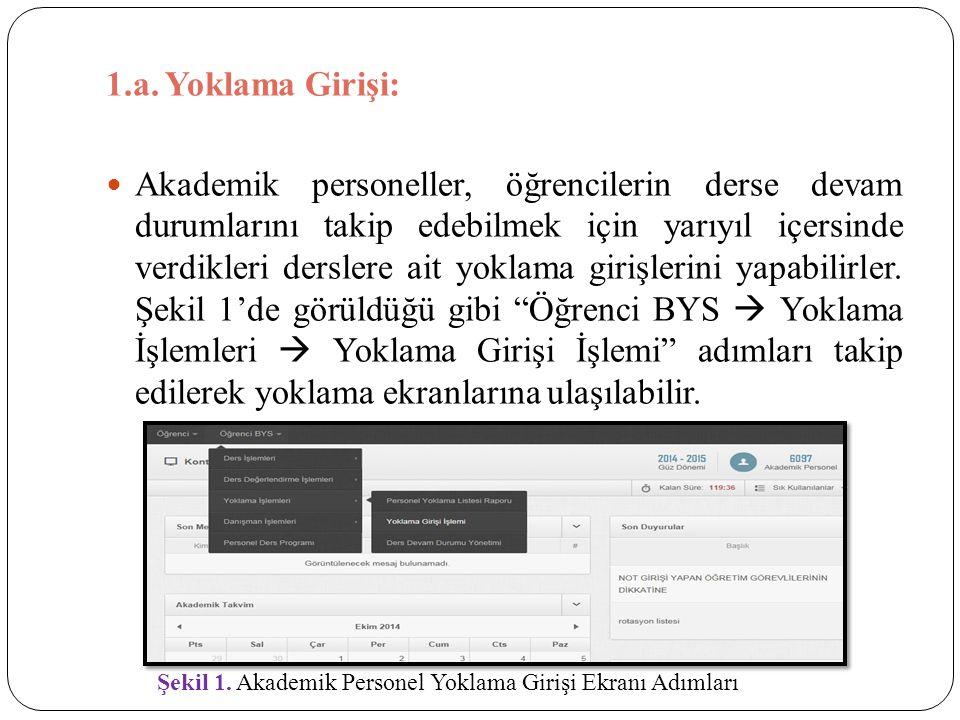1.a. Yoklama Girişi: