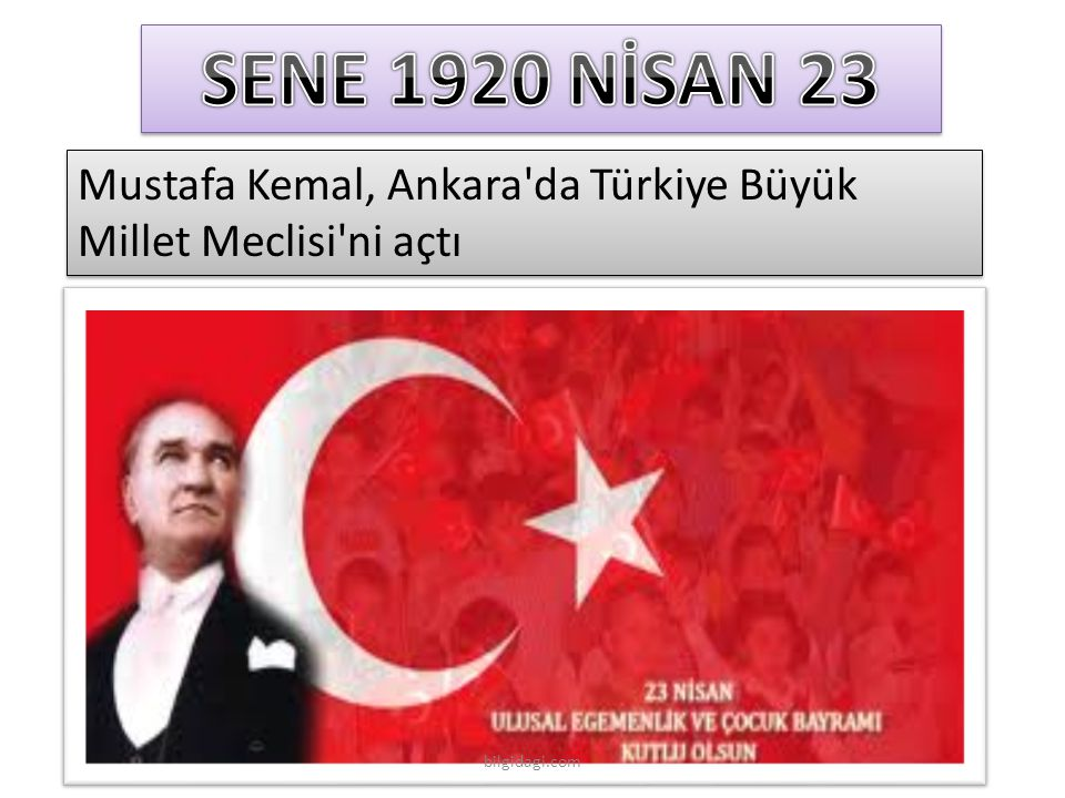 SENE 1920 NİSAN 23 Mustafa Kemal, Ankara da Türkiye Büyük Millet Meclisi ni açtı bilgidagi.com