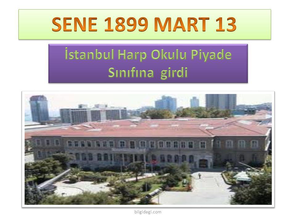 İstanbul Harp Okulu Piyade Sınıfına girdi