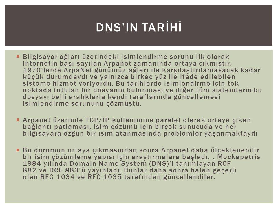 Dns'in tarİHİ