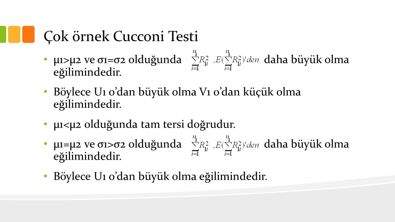 Çok örnek Cucconi Testi