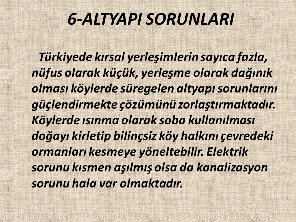 6-ALTYAPI SORUNLARI