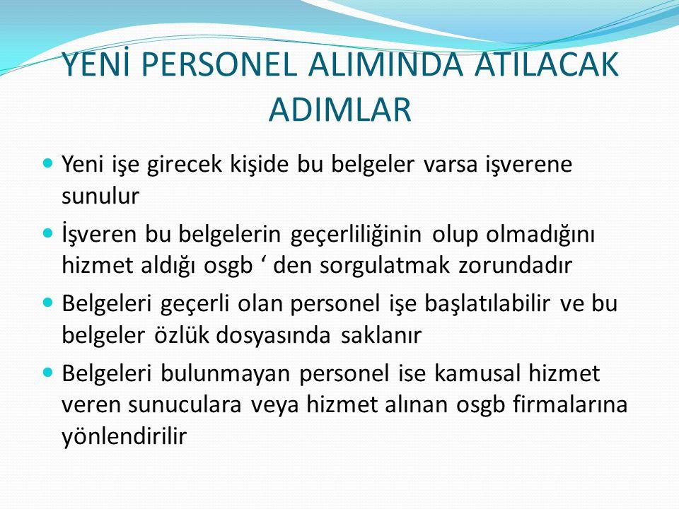 YENİ PERSONEL ALIMINDA ATILACAK ADIMLAR