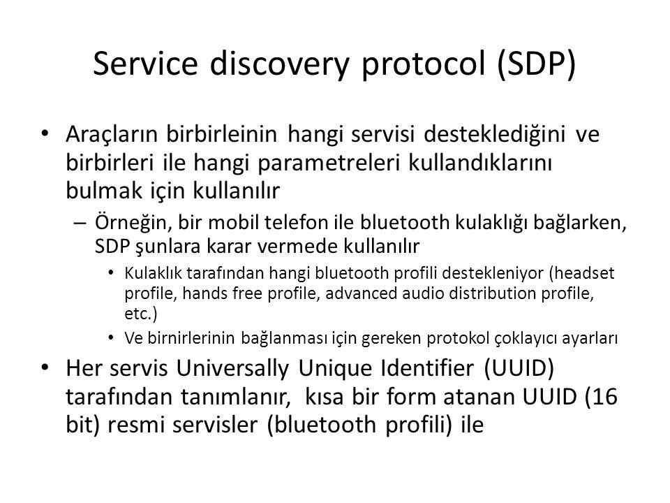 Service discovery protocol (SDP)