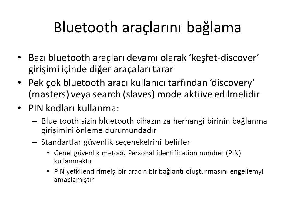 Bluetooth araçlarını bağlama
